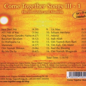 Come Together Songs III-1 CD